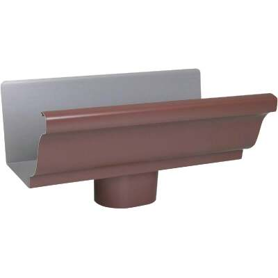 Spectra Metals 5 In. K Style Aluminum Brown Gutter Drop Outlet