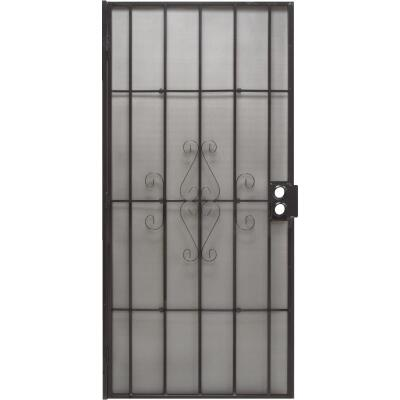 Precision Regal 30 In. W. x 80 In. H. Black Steel Security Door