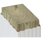 Beechdale 4 In. W. x 4 In. H. x 102 In. L. White PVC Fluted Post Wrap Image 2