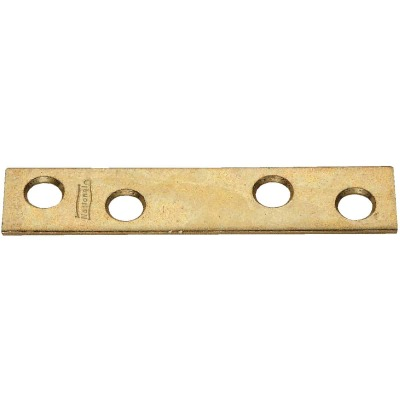 National Catalog 118 3 In. x 5/8 In. Brass Steel Mending Brace (4-Count)