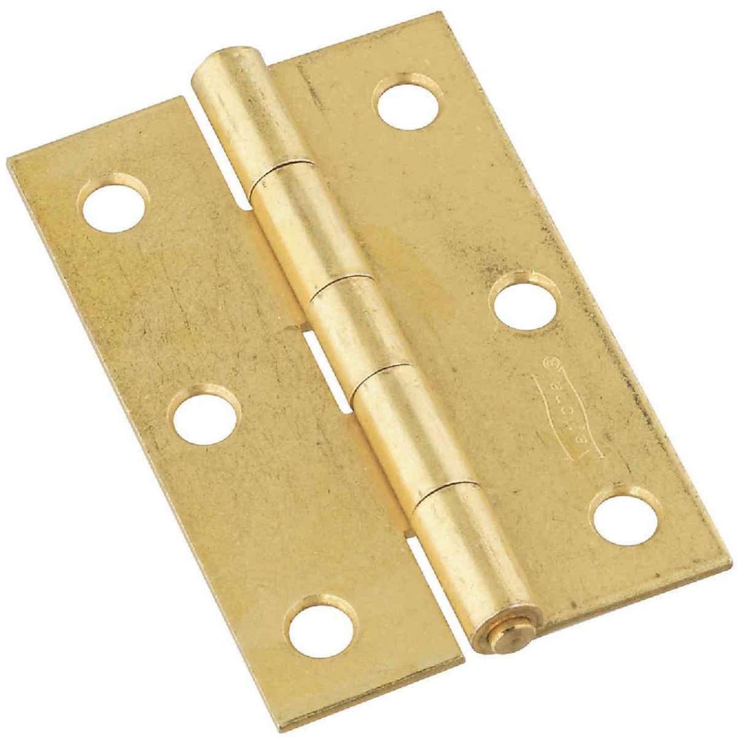 National 3 In. Brass Tight-Pin Narrow Hinge (2 Count) Image 1