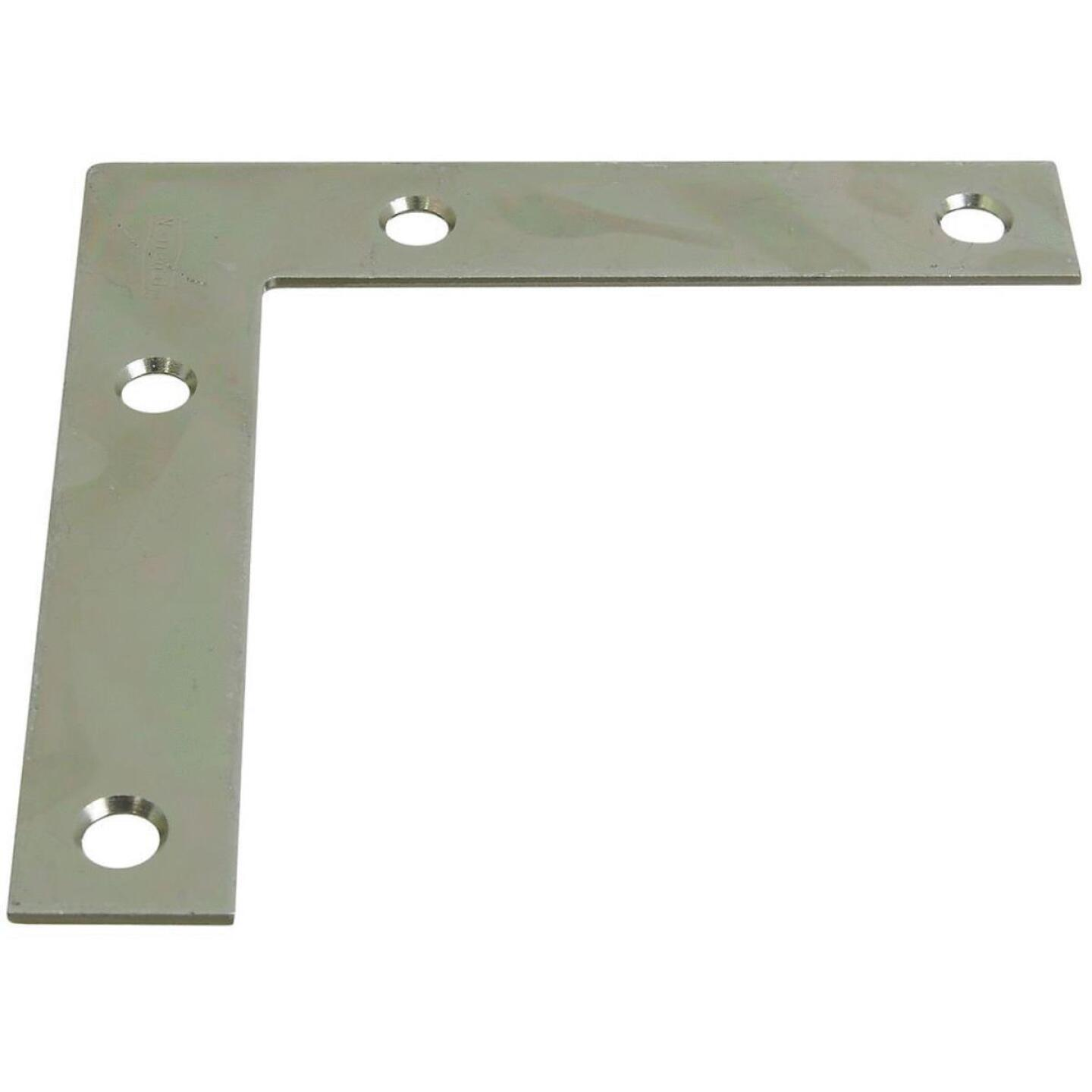 National Catalog 117 4 In. x 3/4 In. Zinc Flat Corner Iron Image 1