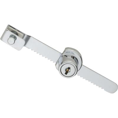 National 4-1/2 In. Chrome Keyed Showcase Lock - Keyed Different