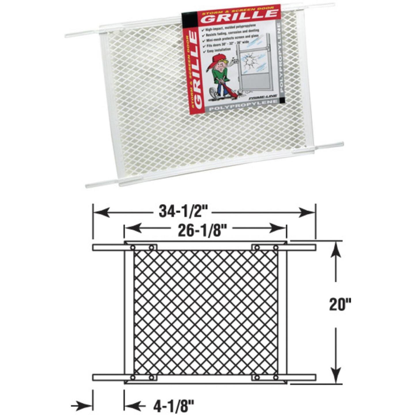 Prime-Line Make-2-Fit 20 In. x 36 In. White Plastic Door Grille Image 1