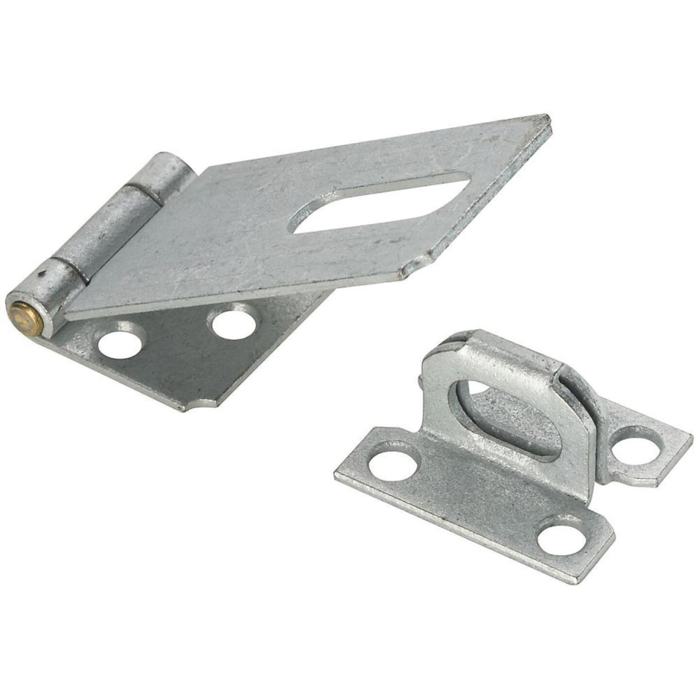 National 3-1/4 In. Galvanized Non-Swivel Safety Hasp Image 1