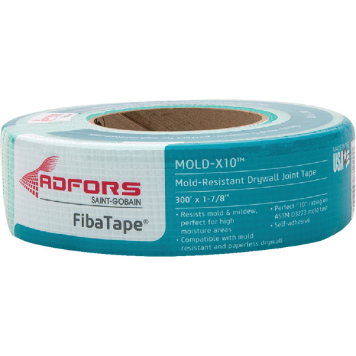 FibaTape Mold-X10 1-7/8 In. X 300 Ft. Mold & Mildew-Resistant Joint Drywall Tape