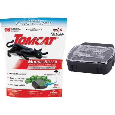 Tomcat Mouse Killer I Refillable Mouse Bait Station (16-Refill)