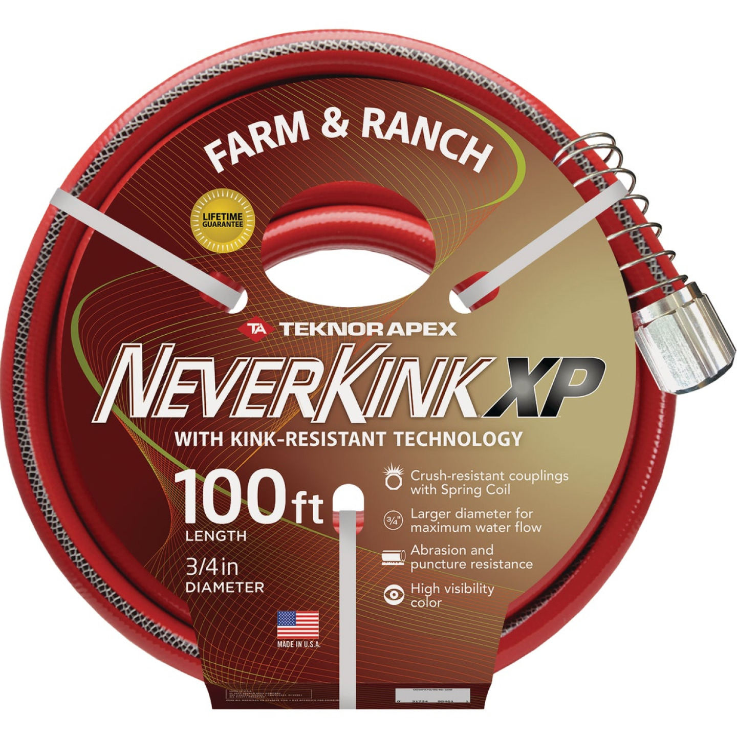 "NeverKink XP 3/4"" x 100' Farm & Ranch Hose Image 1"