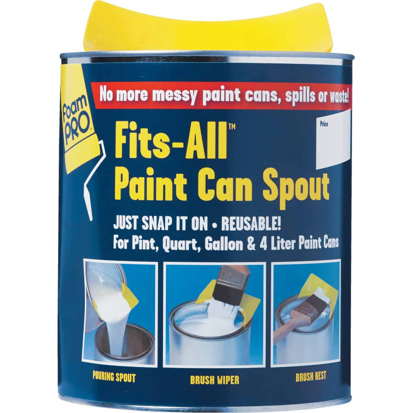 FoamPro Fits-All Snap-On Paint Can Pourer Image 2