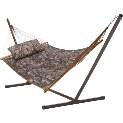 Castaway RealTree Quilted Hammock with Pillow & Stand