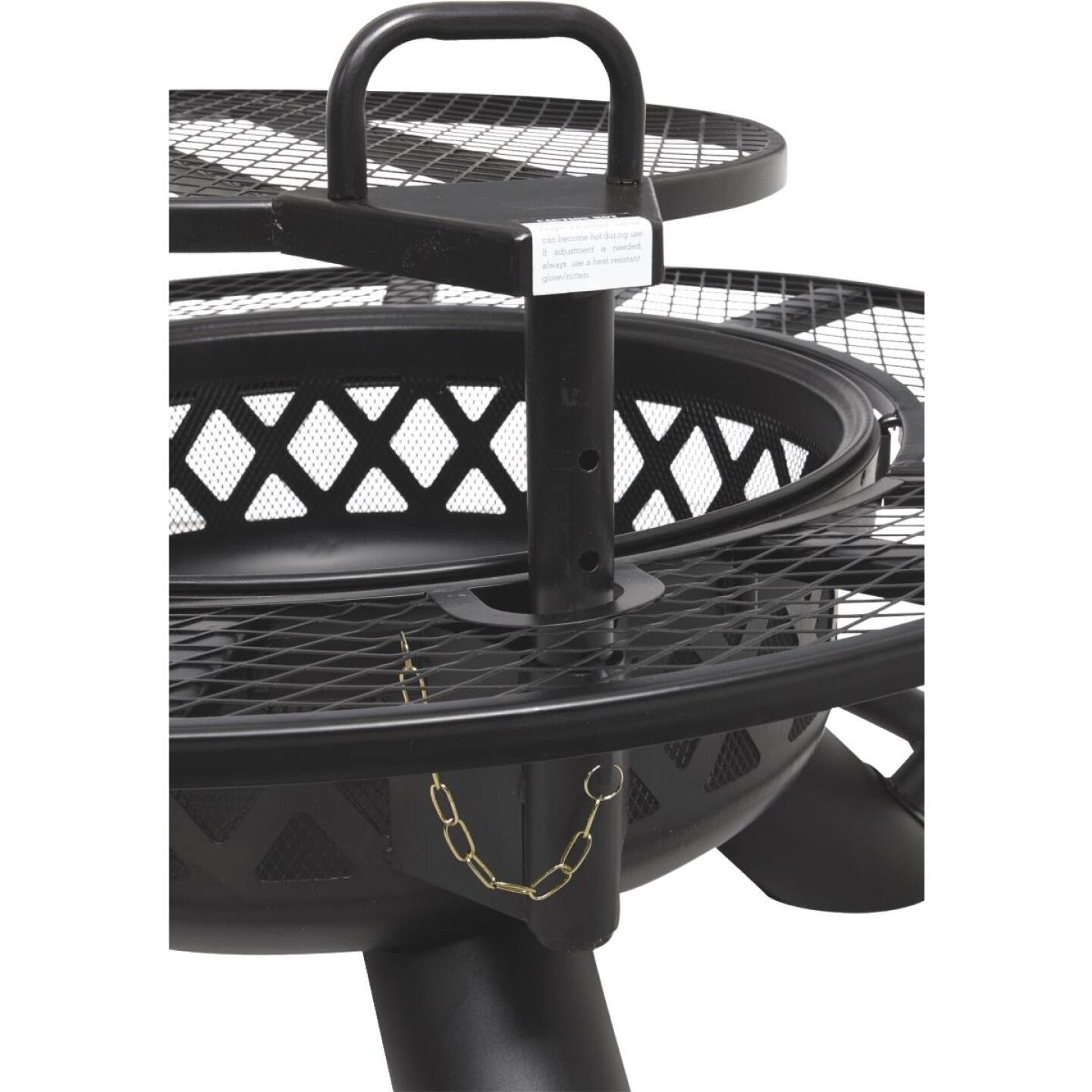 Big Horn 47 In. Camp Black Round Steel Fire Pit Image 3