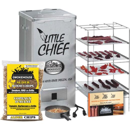 Little Chief 24.5 In. H. 250-Watt Vertical Top Load Electric Smoker