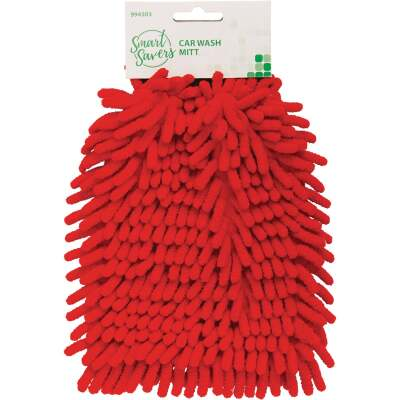 Smart Savers Microfiber Chenille Coral Wash Mitt